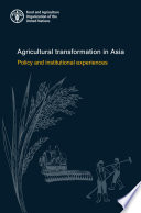 Agricultural transformation in Asia