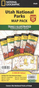 National Geographic Utah National Parks Map Pack Bundle
