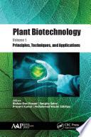 Plant Biotechnology  Volume 1 Book