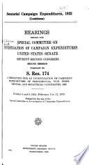 Senatorial Campaign Expenditures, 1932 (Louisiana)