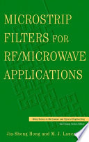 Microstrip Filters for RF   Microwave Applications Book