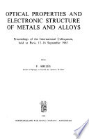 Optical Properties and Electronic Structure of Metals and Alloys