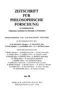 Zeitschrift für philosophische Forschung