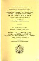 Affaire de la D  limitation de la Fronti  re Maritime Dans la R  gion Du Golfe Du Maine  Canada Etats Unis D Am  rique