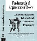 Fundamentals of Argumentation Theory Pdf/ePub eBook