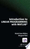 Introduction to Linear Programming with MATLAB