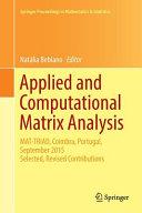 Applied and Computational Matrix Analysis Book