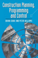 Construction Planning Programming and Control
