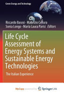 Life Cycle Assessment of Energy Systems and Sustainable Energy Technologies Book