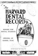 Harvard Dental Record Book