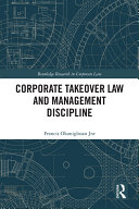 Corporate Takeover Law and Management Discipline Pdf/ePub eBook