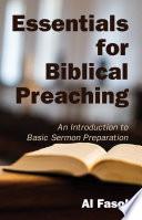 Essentials for Biblical Preaching