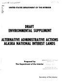 Alternative Administrative Actions  Alaska National Interest Lands