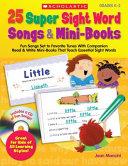 25 Super Sight Word Songs   Mini Books
