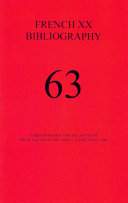 A Bibliography for the Study of French Literature and Culture Since 1885
