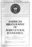 American Bibliography of Agricultural Economics
