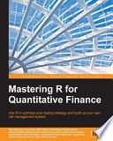 Mastering R for Quantitative Finance Book