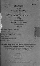 Journal Of The Ceylon Branch Of The Royal Asiatic Society