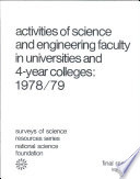 Activities of Science and Engineering Faculty in Universities and 4-year Colleges