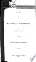 Notes on Mechanical Engineering