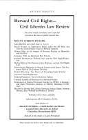 Harvard Law Review - Seite xiv