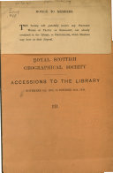 Accessions to the Library