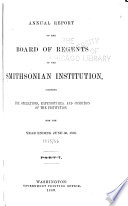 Annual Report of the Board of Regents of the Smithsonian Institution Book