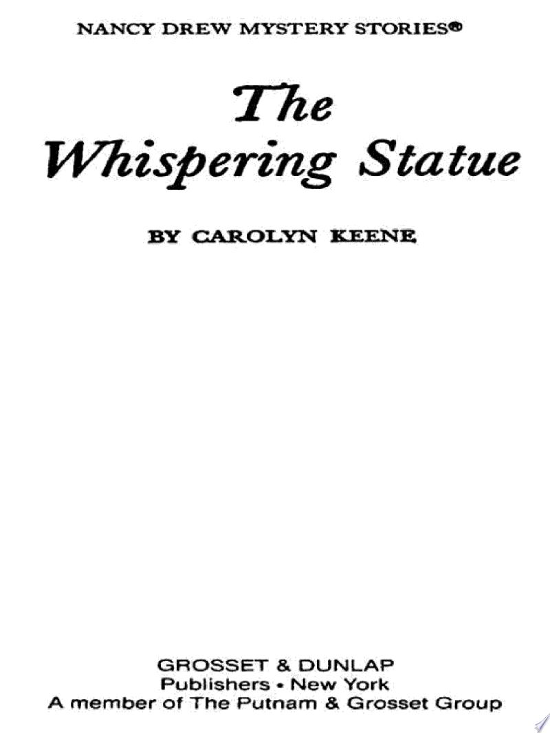 Nancy Drew 14: The Whispering Statue banner backdrop