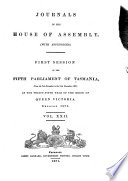 Journals of the House of Assembly  with Appendices