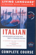Italian for Beginners Book