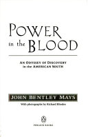 Power in the Blood : an Odyssey of Discovery in the American South
