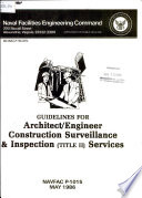 Guidelines for Architect/engineer Construction Surveillance & Inspection (Title II) Services