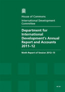 Department for International Development s Annual Report and Accounts 2011 12