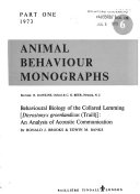 Animal Behaviour Monographs
