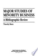 Major Studies of Minority Business