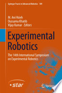 Experimental Robotics Book PDF