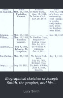 Biographical Sketches of Joseph Smith, the Prophet, and His Progenitors for Many Generations