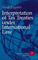 Interpretation of Tax Treaties under International Law:  - Seite 426