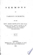 Sermons on different subjects      The fifth edition corrected