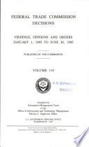 Federal Trade Commission Decisions Book PDF