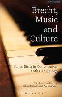 Brecht, Music and Culture Pdf/ePub eBook