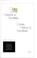 Crime, Histoire et Sociétés, 2009/1 et 2009/2