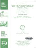 Bioassessment Methodologies for the Regulatory Testing of Freshwater Dredged Material