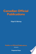 Canadian Official Publications