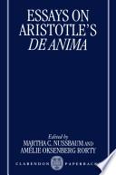 Essays On Aristotle S De Anima