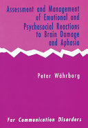 Assessment and Management of Emotional and Psychosocial Reactions to Brain Damage and Aphasia Pdf/ePub eBook