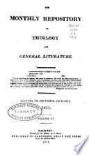 The Monthly Repository Of Theology And General Literature