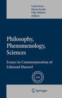 Pdf Philosophy, Phenomenology, Sciences Telecharger