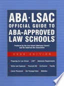 ABA-LSAC Official Guide to ABA-Approved Law Schools