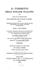 Il tesoretto dello scolare italiano; or, The art of translating easy English into Italian at sight